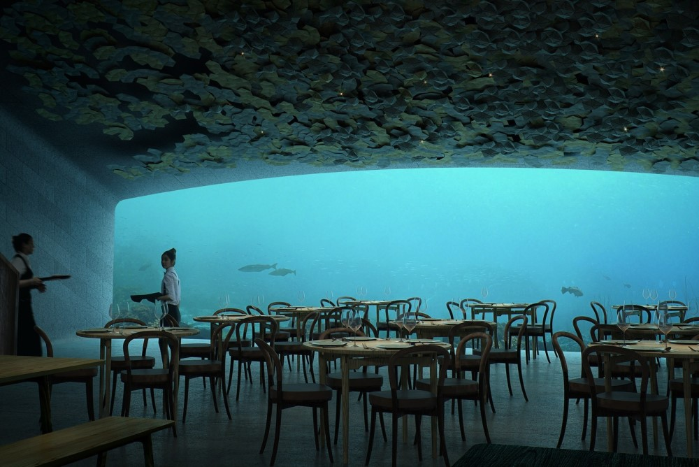 Europe's First Underwater Restaurant Functions As Marine Research Center