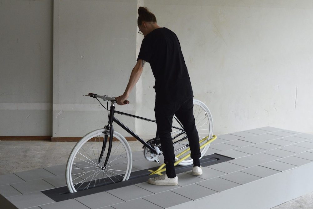This Bicycle Rack Disappears When No One S Using It