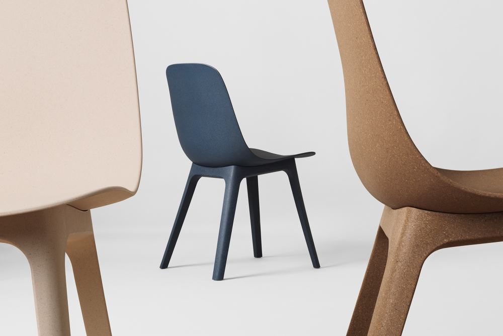 Sustainable IKEA Chair Uses Recycled Materials And No-Screw Assembly