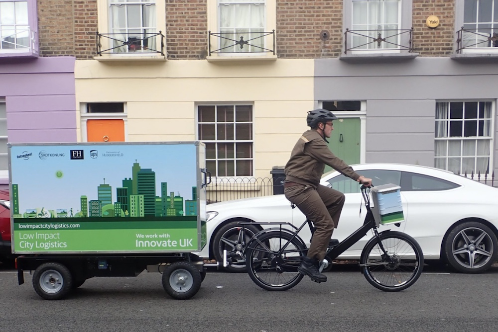 UPS Is Launching Electric Bike Trailers On London Streets