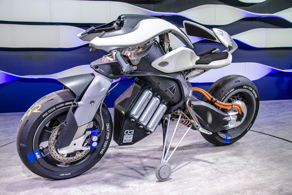 Yamaha Concept Motorcycle Can Be Summoned With Hand Gestures