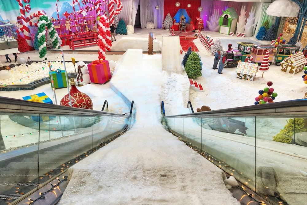 How Samsung Turned An Abandoned Mall Into A Christmas Wonderland