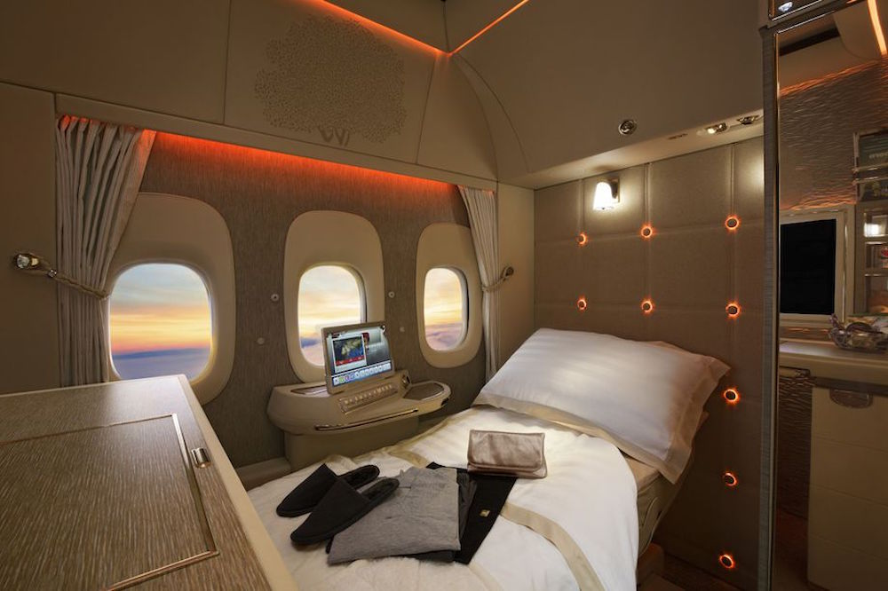 First Class Airline Suites Feature Virtual Windows To The Outside World