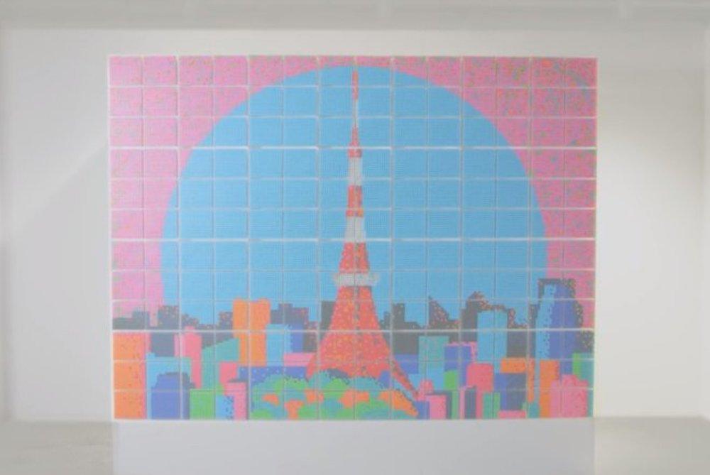 Muji Used 37,968 Pens To Make A Holiday Mural