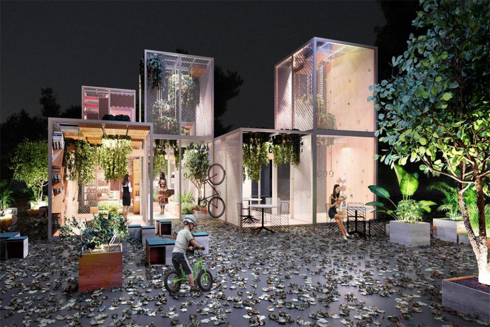 Cubic Modules Made Of Recyclable Metal Offer A Unique Living Space