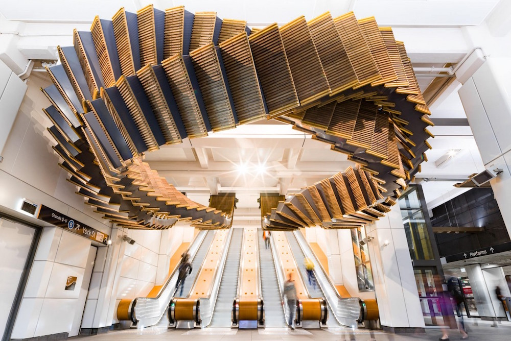 Artist Transforms 80-Year-Old Escalator Into An Intertwining Sculpture