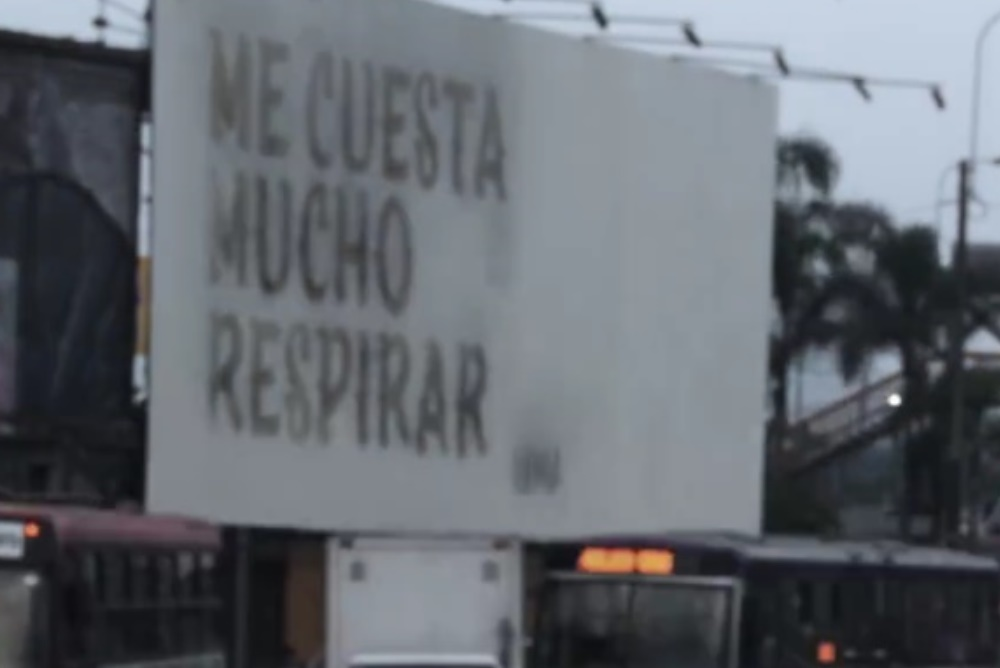 Billboard Uses Air Pollution To Display A Message