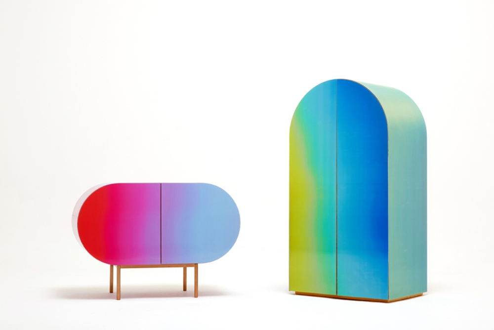 These Gradient Cabinets Change Based On Where The Viewer Is To Create A Deeper Connection With The Object
