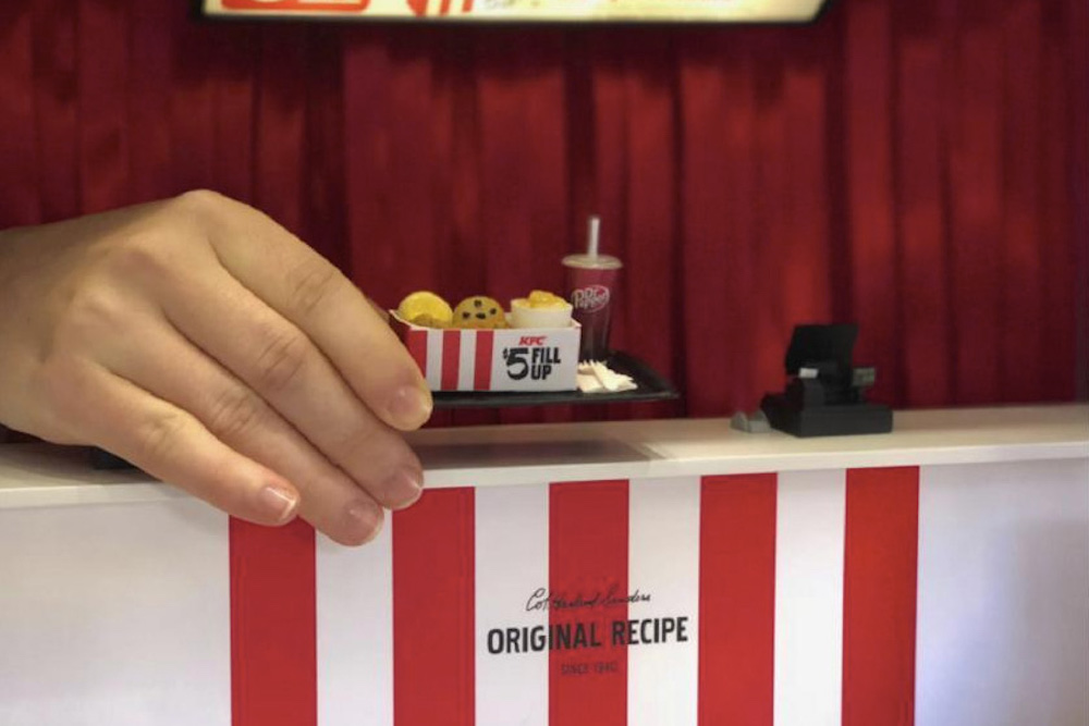 KFC Opened A Mini Restaurant To Serve Up Tiny Boxes Of Fried Chicken