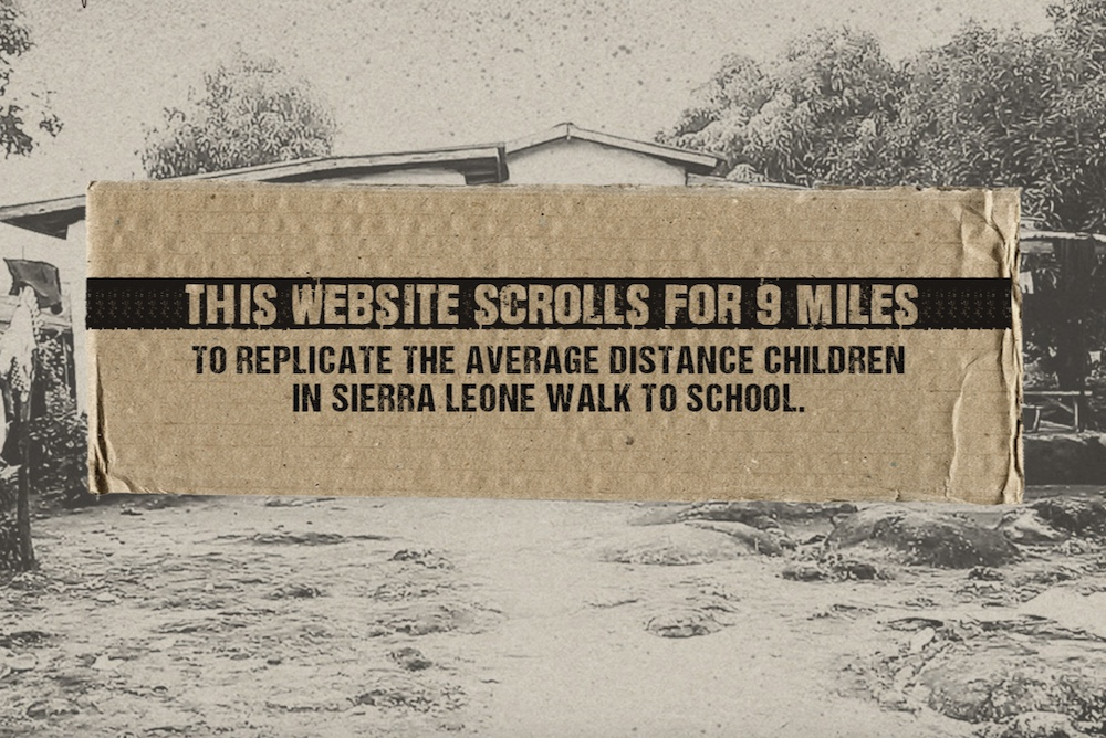 Website Scrolls For 9 Miles To Illustrate Daily Journey Of Students In Sierra Leone