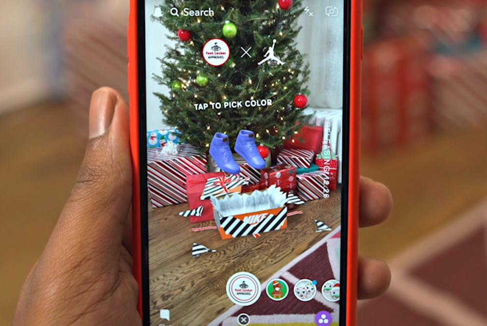 Foot Locker's Snapchat Lens Lets You 'Unbox' New Sneakers In AR