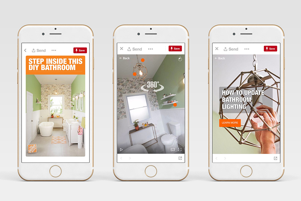 Home Depot Takes A 360-Degree Look At DIY Projects On Pinterest