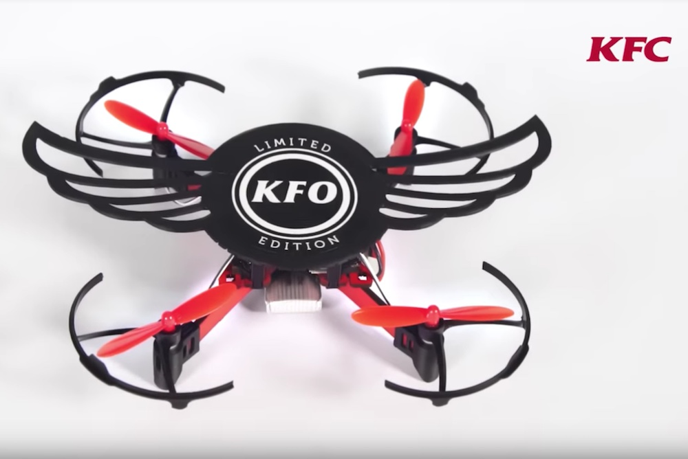 Diners Can Build A Drone Out Of This KFC Chicken Wing Box