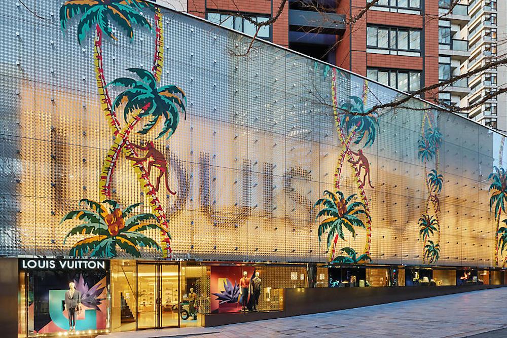 Louis Vuitton's Tokyo Store Unveils A Hawaiian Paradise Installation