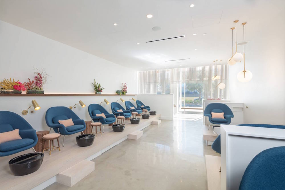 Texas Nail Salon's Interior Boasts A Retro Modern Design