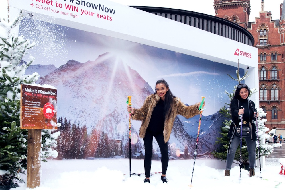 Tweet-Powered Billboard Throws Snow At Last-Minute Travelers