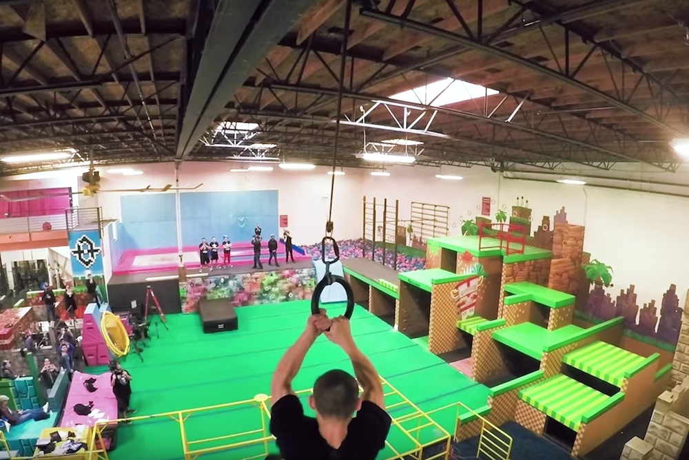 Sega Transformed A Parkour Gym Into A Real-Life Video Game Level