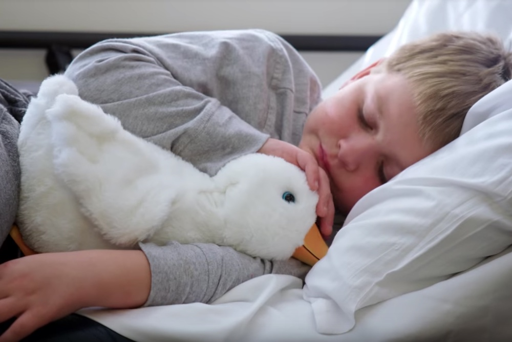 Aflac Designed A Toy Robot To Comfort Kids Who Have Cancer