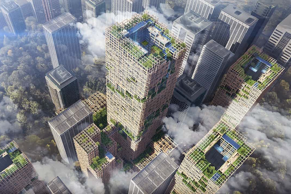 Japanese Company Plans To Build A Sustainable 70-Story Skyscraper Out Of Wood
