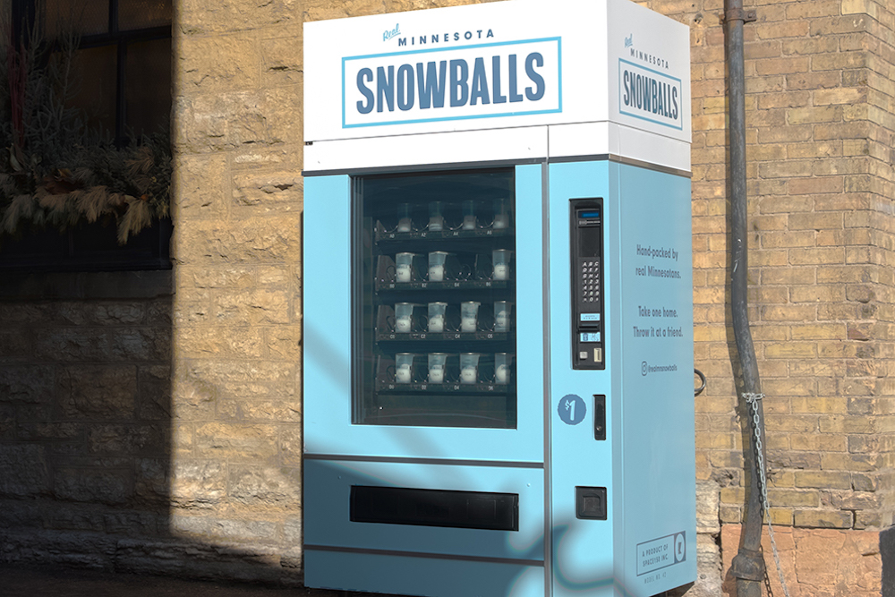 Vending Machine Doled Out Snowballs At The Super Bowl
