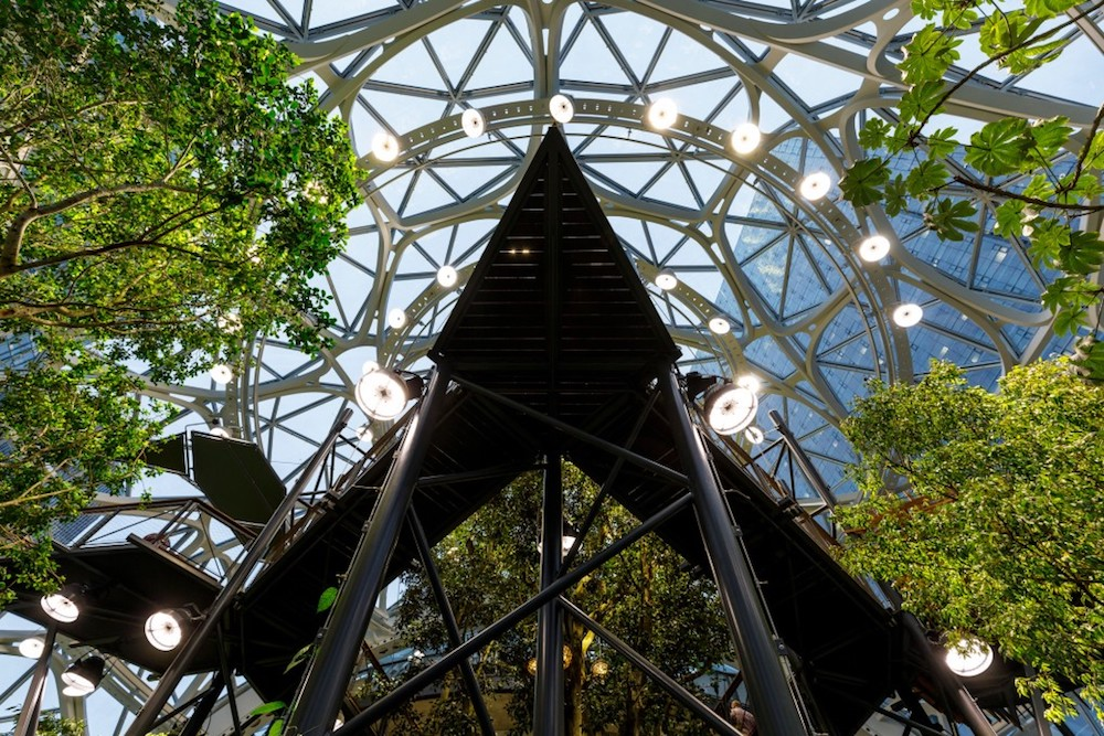 Amazon Opens Its New Seattle Office Space—A Huge Biodome