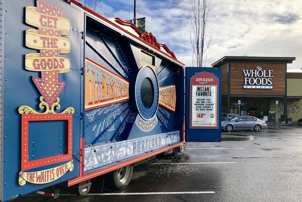 Amazon's Treasure Truck Is Setting Up Shop In Whole Foods Parking Lots
