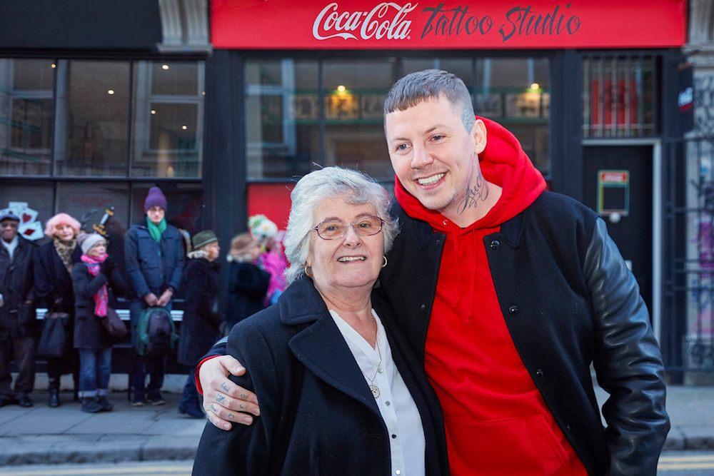 Coca-Cola Pop-Up Gives Senior Citizens Free Tattoos