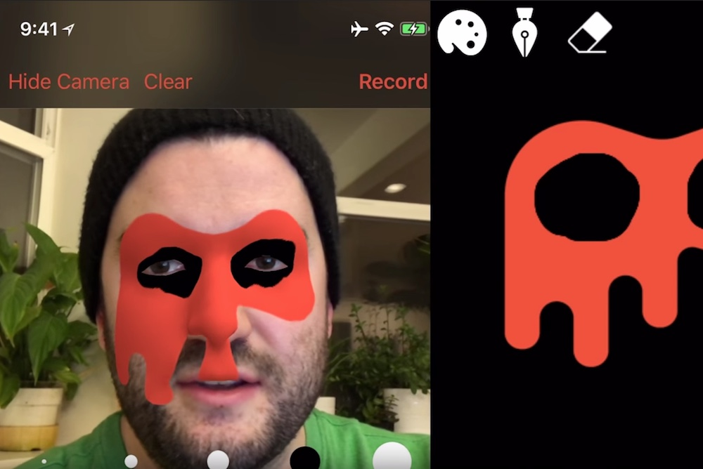 This App For iPhone X Lets You Paint Your Face In AR