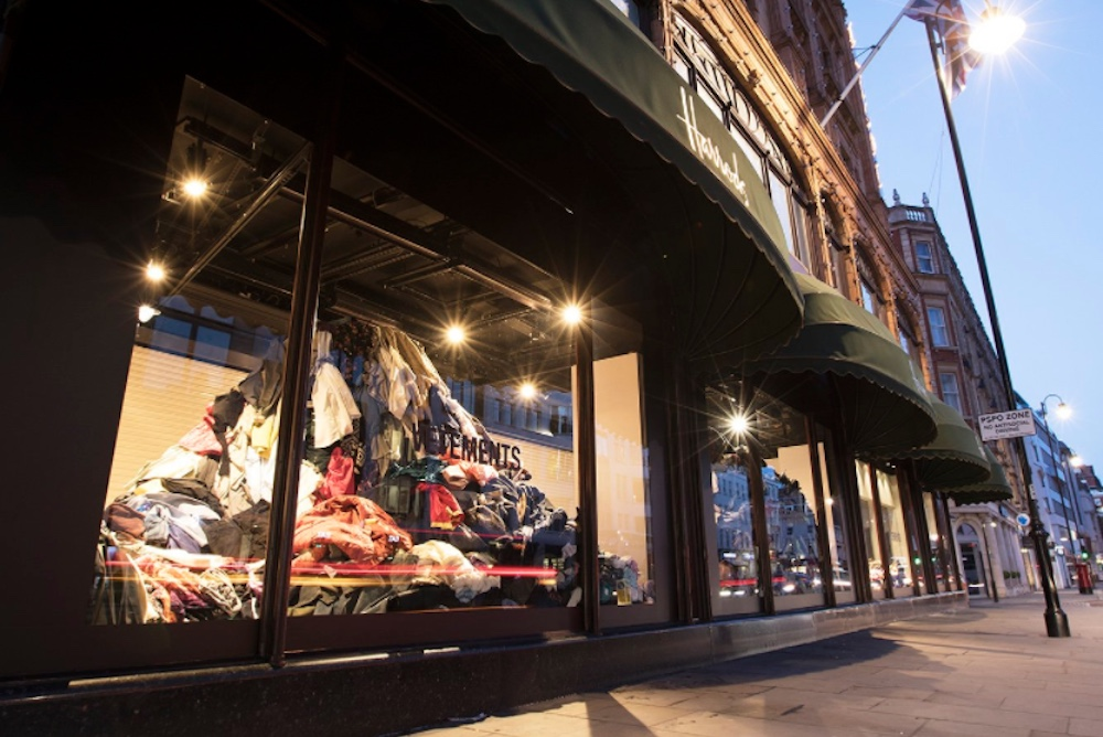 Department Store Window Display Calls Attention To Fashion's Waste