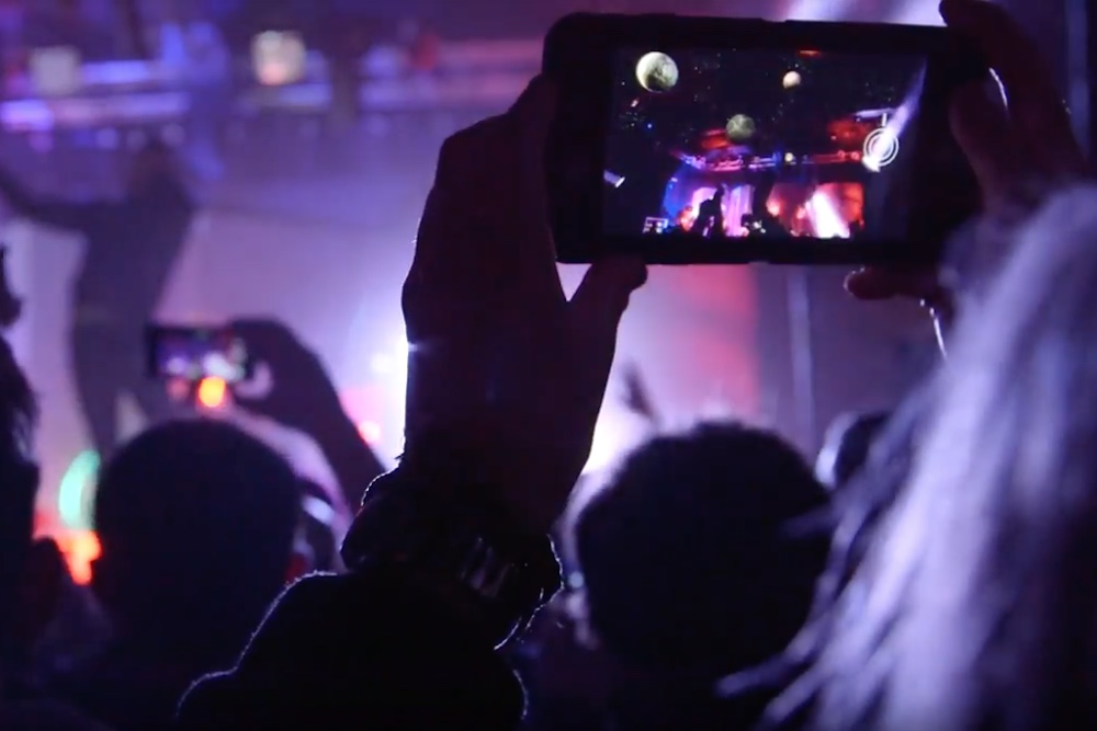 Augmented Reality Adds Outer Space Scenery To NYC Rock Concert