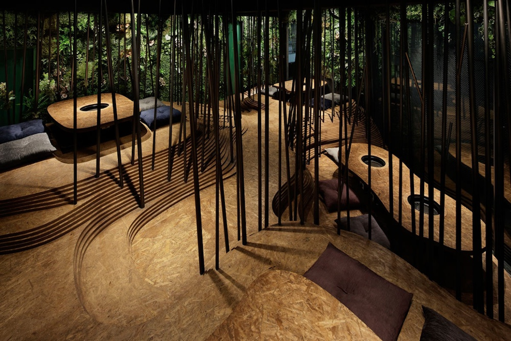 Intricate Tokyo Restaurant Design Mimics A Forest With Caves