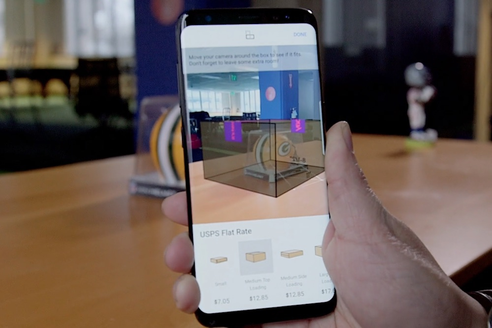 eBay's AR Feature Helps Shippers Choose The Right Size Box