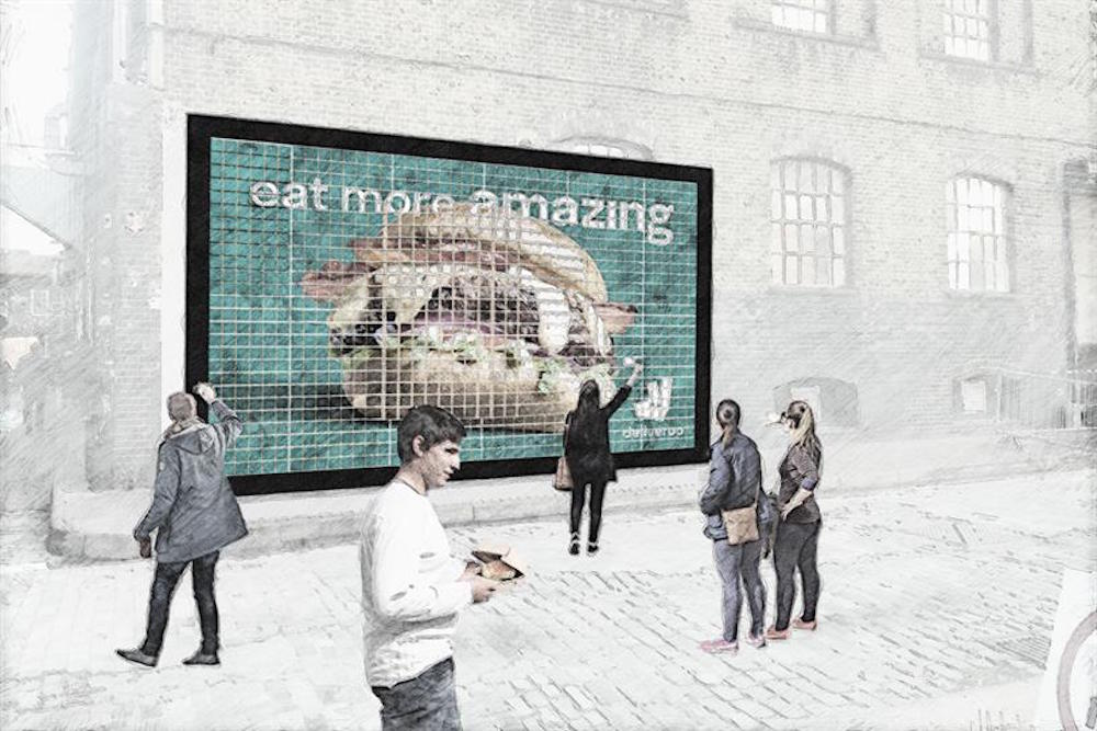 Food Delivery Service Creates A Billboard Out Of Free Burgers