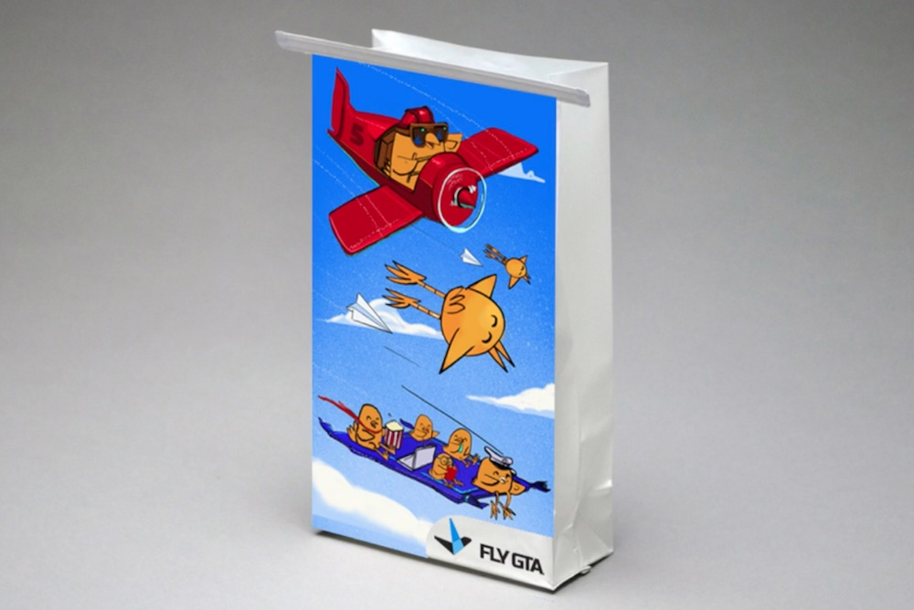 Airline Taps Street Artists To Lend 'Sick Art' To Motion Sickness Bags