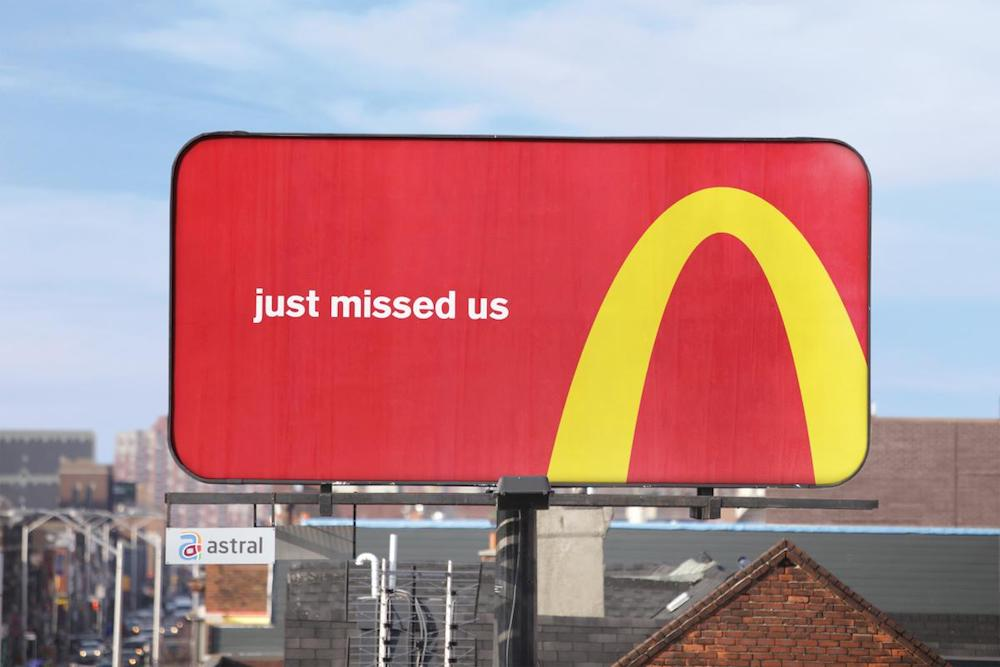 McDonald's Is Using Its Arches to Direct You To Its Nearest Location