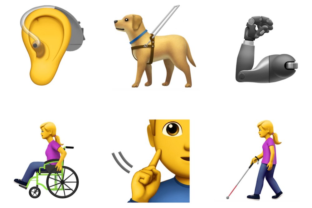 Apple's New Emoji Designs Represent People With Disabilities