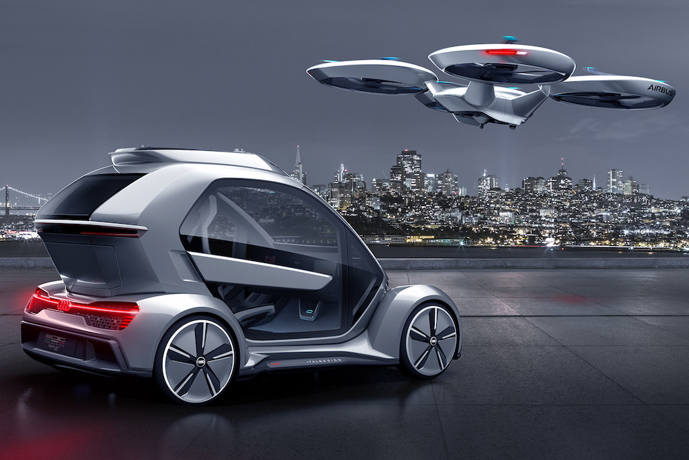 Audi Car-Drone Hybrid Explores The Future Of Flying Taxis