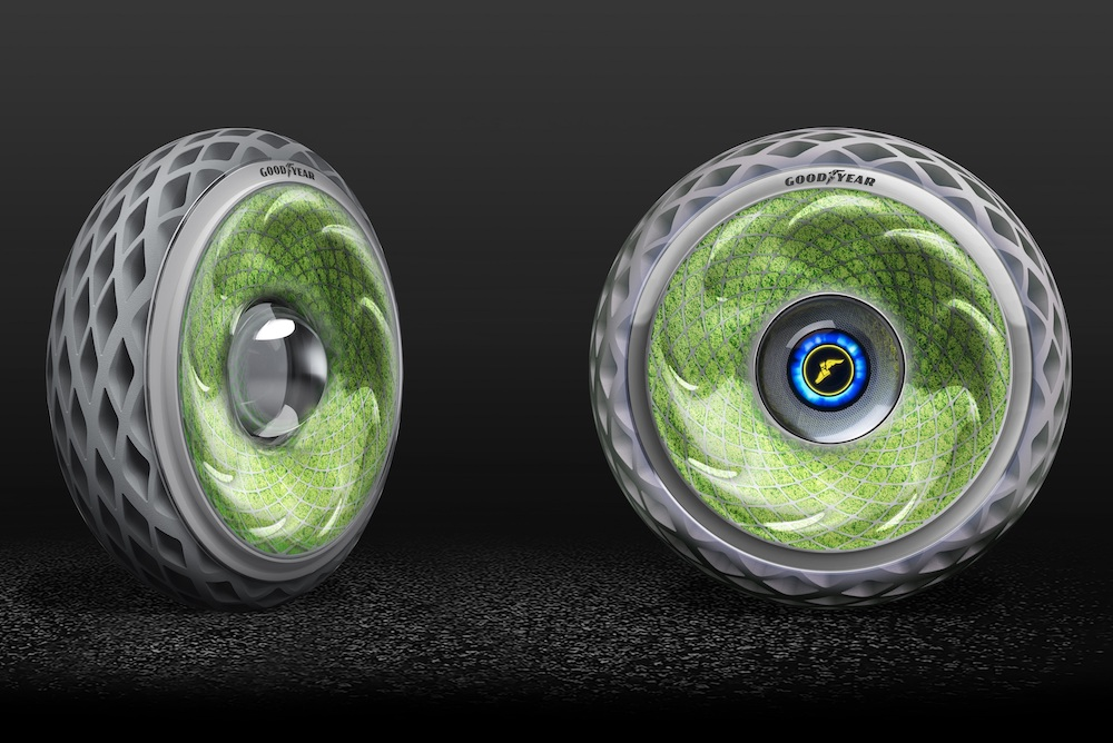 Goodyear Sustainable Tire Concept Has Moss Growing Inside