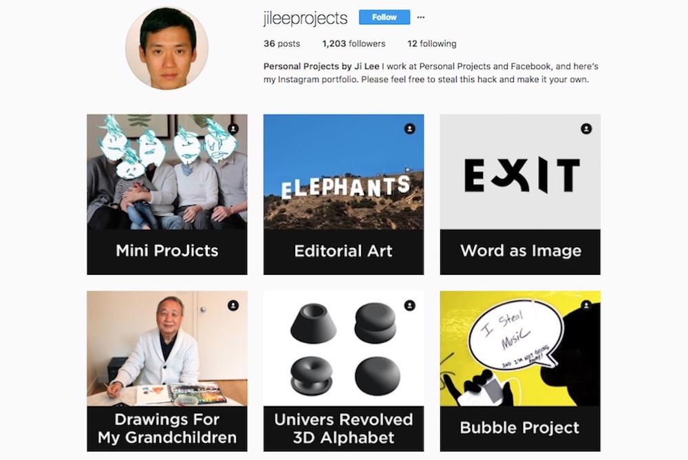 This Simple Hack Makes Instagram Into A Design Portfolio