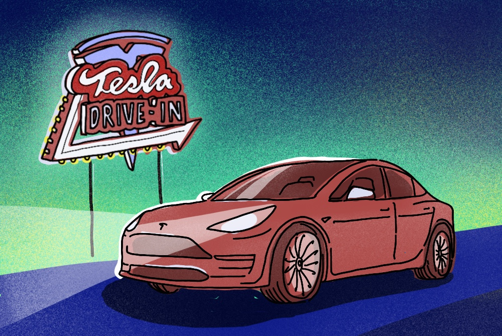 Tesla Owners Might Soon Recharge At A Retro-Themed Restaurant