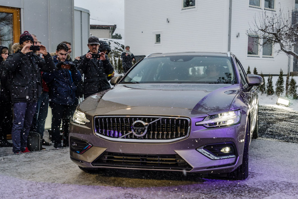 Volvo Debuts New Station Wagon In A Swedish Family's Driveway