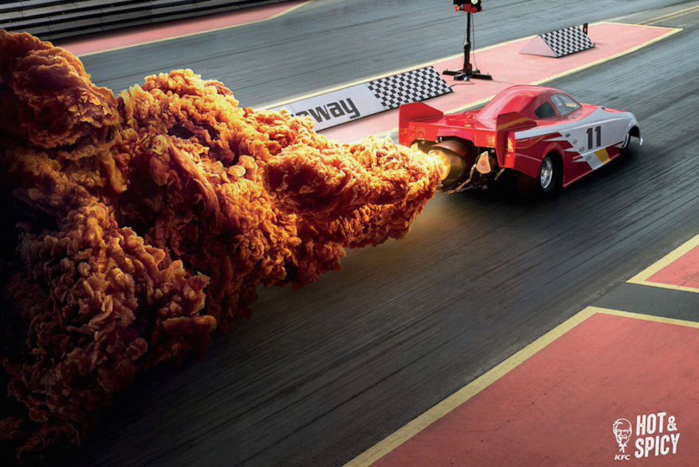 KFC Replaces Fire With Fried Chicken In Ingenious Print Ads
