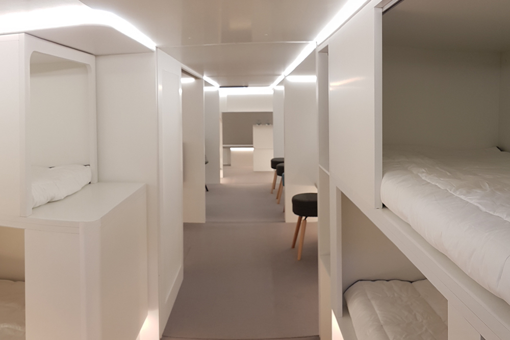 Airbus Is Turning Airplane Cargo Holds Into Passenger Dormitories