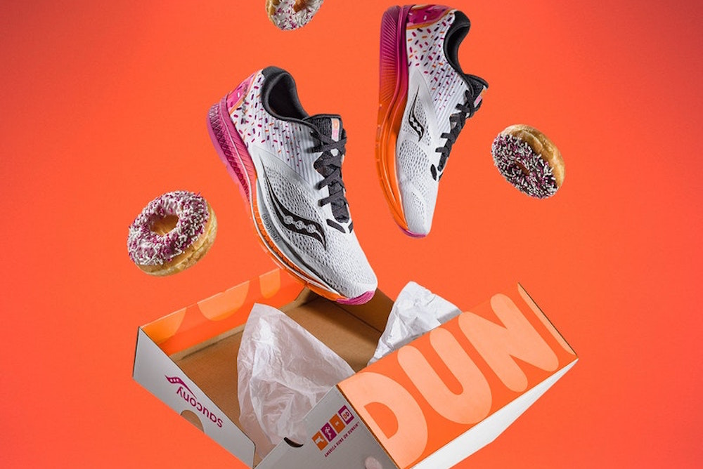 Dunkin' Donuts Released Limited-Edition Sneakers For Boston Marathon