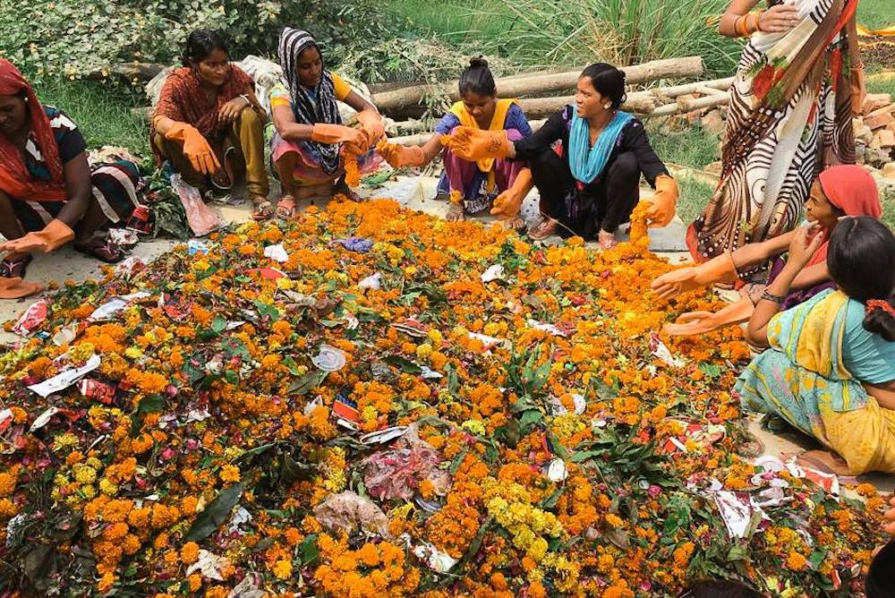 Indian Startup Fights Pollution By Upcycling Rotting Temple Flowers