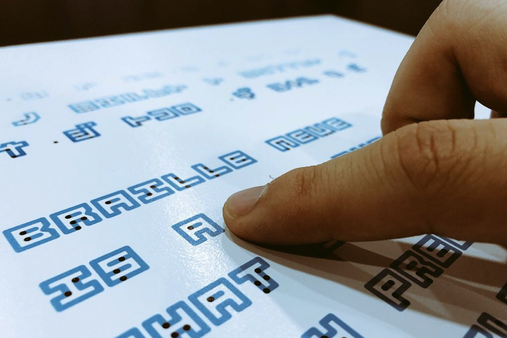 Inclusive Typeface Combines Braille With The Visual Alphabet