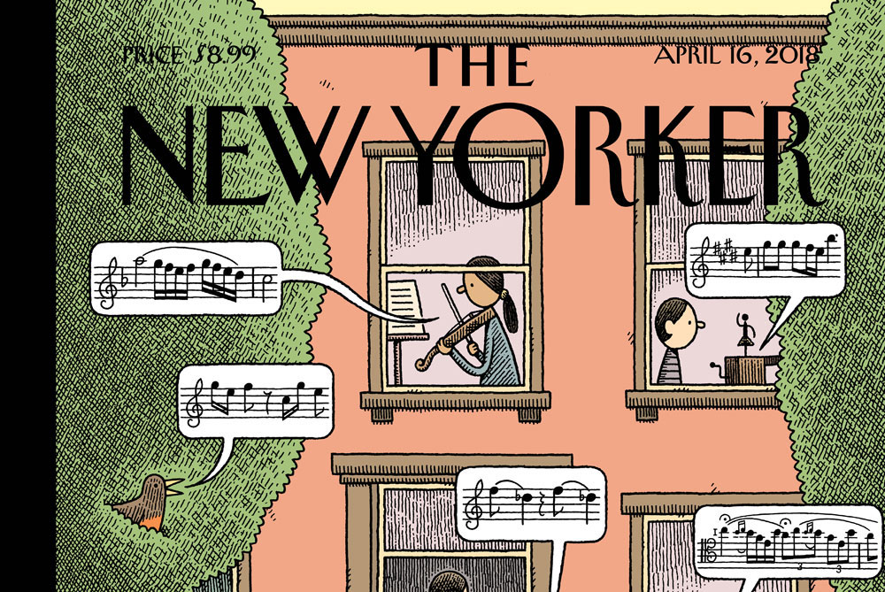 The New Yorker's Latest Cover Comes With A Musical Soundtrack