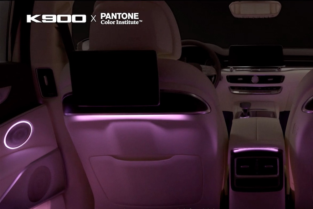 Pantone Developed Color-Changing Mood Lighting For Car Interiors