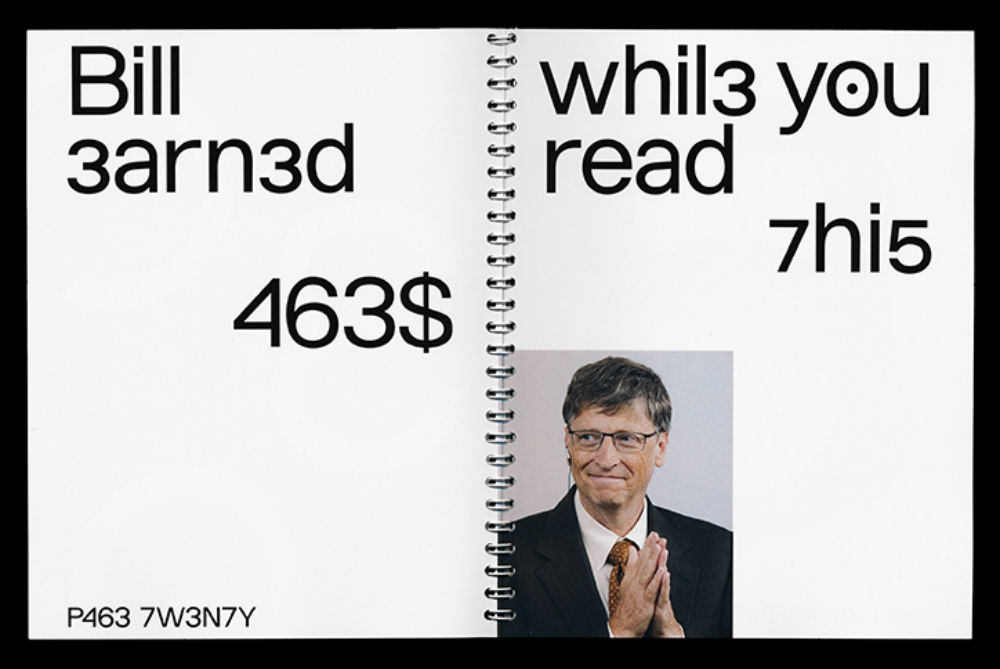 This Font Is Inspired By Bill Gates's Hacker Past