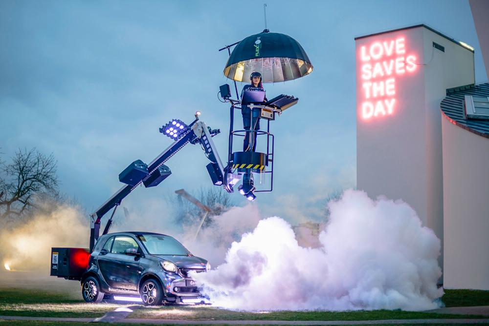 Smart Car Transforms Into A Mobile Dance Club For Milan Furniture Fair